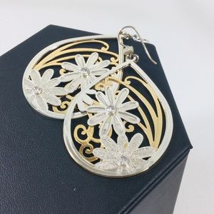 Brighton silver and gold drop earrings